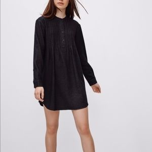 Talula Charcoal Flannel Boswell Dress